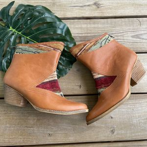 Sbicca Aztec Vintage Collection Ankle Booties Sz 9